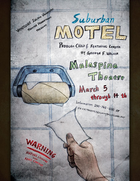 Suburban Motel Poster - Geng Gao Illustration