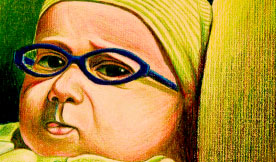 Baby with Glasses - Geng Gao Illustration