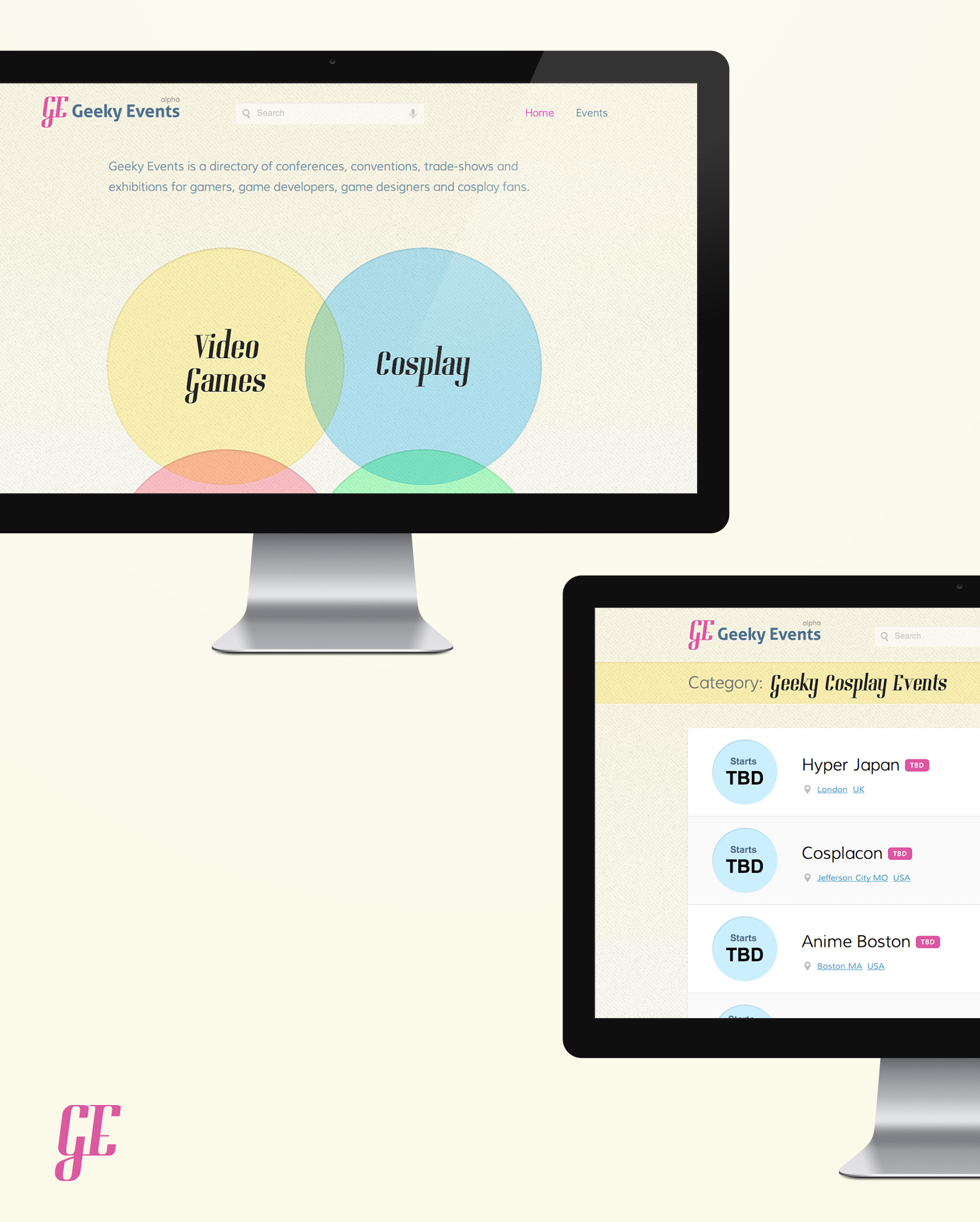 Geeky Events - Geng Gao Web Design